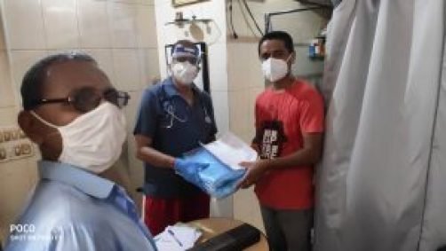 Distribution of PPE Kit and Face Shield