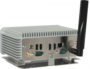 Bonito Bordcomputer NUC II Rückansicht