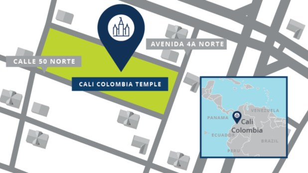 Cali-Colombia-Temple-Map