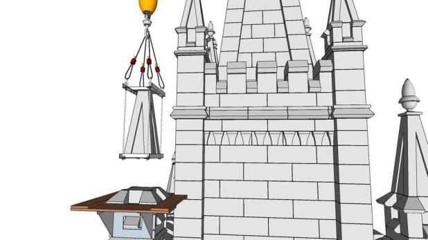 Salt Lake Temple Crane in Renovation 2020