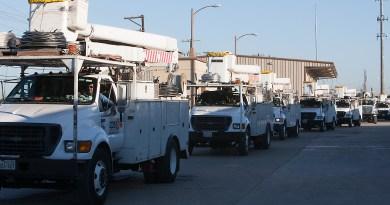 (Image) Hurricane Relief, CPS Energy trucks