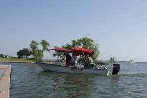 Shawn Reese guarantees visitors will catch fish on his tours.