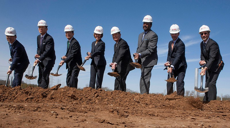 (Image) CPE Energy, OCI Solar Power and city of San Antonio leaders break ground on 41 MW solar site.