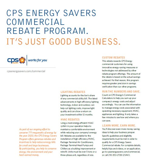 Energy Savers commercial customers 2