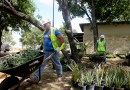 (Image) CPS Energy employees donated time to create a therapeutic garden and recreation area at the Warrior Family Support Center.
