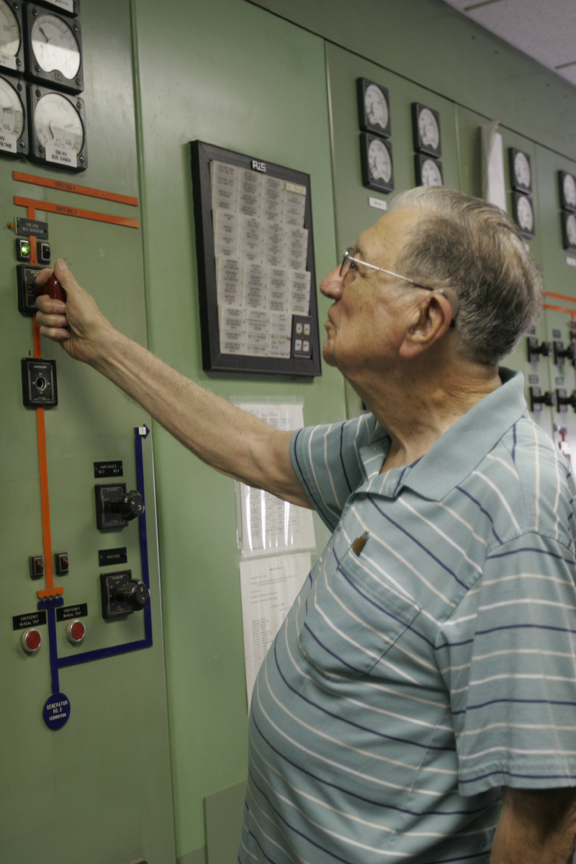 Louis Sengele, who retired from CPS Energy in 1993 with 45 years of service, was a Production shift supervisor and the first employee to bring the Tuttle Plant online.