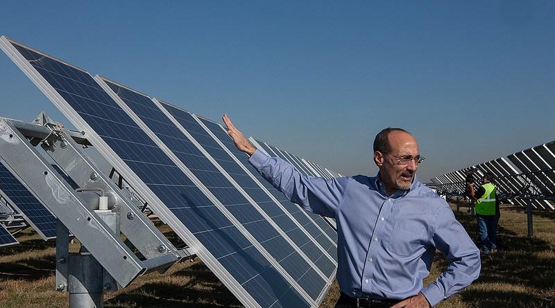 (Image) Tony Dorazio, CEO of OCI Solar Power, at Alamo 1, the 40 MW site now generating power.