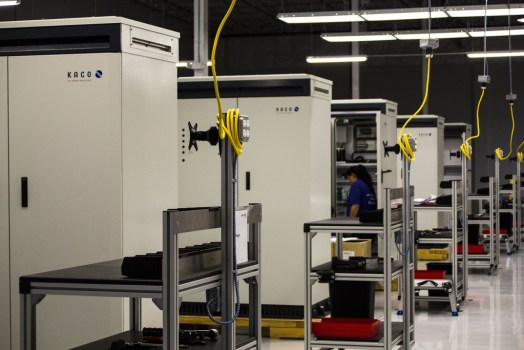 View of the XP 550 production lines at KACO new energy's 56,000 square foot, state-of-the-art inverter and power station plant in San Antonio. Photo courtesy KACO new energy
