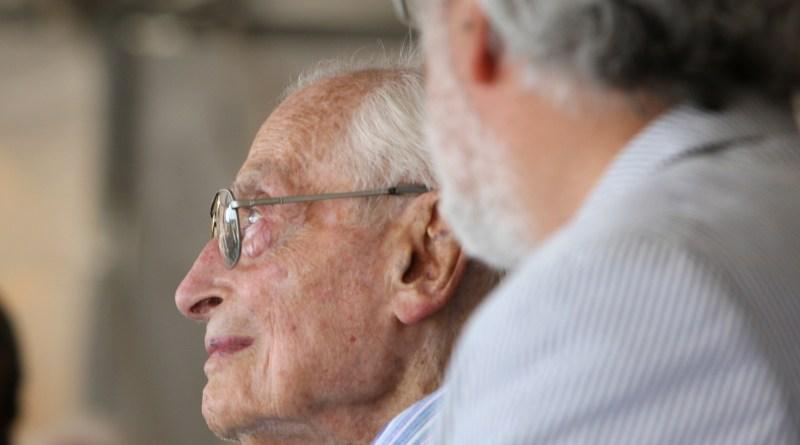 "(Image) Bill Sinkin listens as the William R. ""Bill"" Sinkin Centennial solar farms are dedicated."