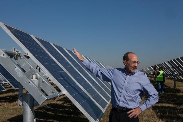 (Image) tony dorazio with solar panels