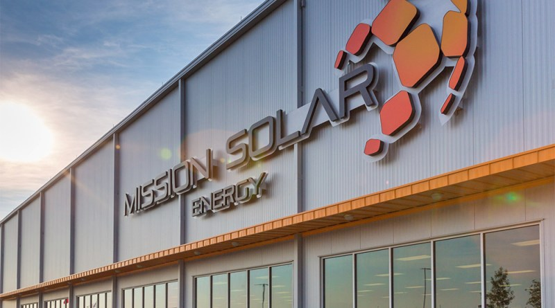 (Image) The Mission Solar manufacturing facility at Brooks City Base.