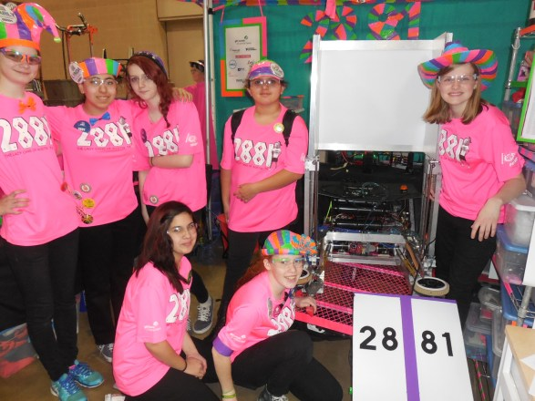 (Image) Girl power was in full force at this year's robotic competition. The Pink Lady Hornets, an all-girl team from Flour Bluff High School in Corpus Christi, Texas, loves to compete and is on a mission to change the future of robotics by encouraging young girls to pursue STEM fields.