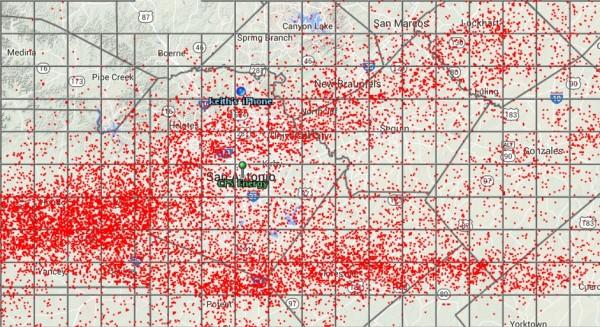 lightning strikes map Apr 25, 2015