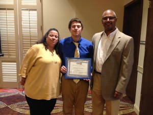 Edison High School Senior Dominic Carrasco is one of 27 graduates involved in the Inspire U program. Carrasco recently celebrated with his mom, Barbara Daughtry, and his mentor, CPS Energy Manager Mike Malone at an end of year luncheon.