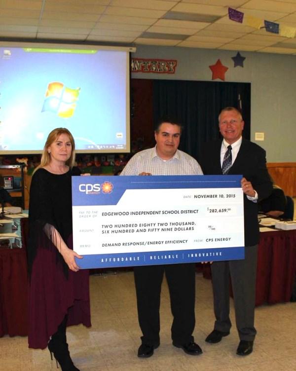 Edgewood receives check for Demand Response energy savings