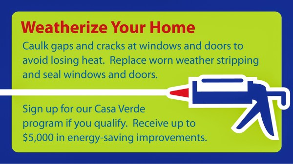 Weatherize Your Home with caulk and weatherstripping