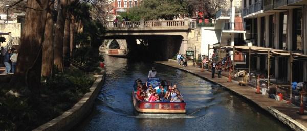 River barge image