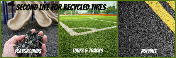 Recycled tires graphic
