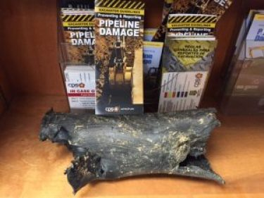 damaged gas pipe