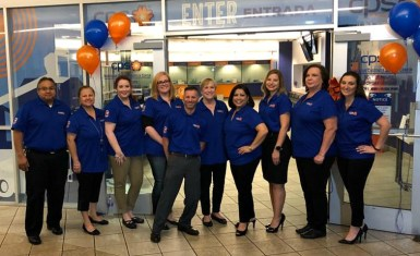 (Image) Cynthia Delgado (third from the right) is grateful for the support of her team members in Customer Success.