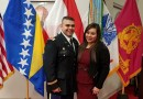 (Image) George Patino, shown here with his significant other, Elizabeth, has served in the Texas Army National Guard Reserve unit for the past five years.