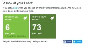 (Image) Nest sends a monthly report on your energy savings.