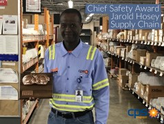 (Image) Jarold Hosey, a warehouse foreman for Supply Chain Operations, earned a Chief Safety Award.