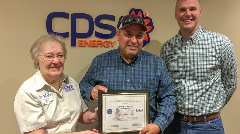 CPS Energy manager receives Patriot Award for outstanding support of Navy Reservist