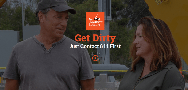 (Image) Mike Rowe from Dirty Jobs, reminds us to call 811.