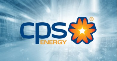 CPS Energy logo against grey background