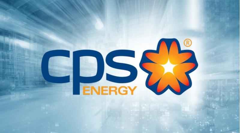 Logotipo de CPS Energy sobre fondo gris