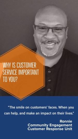 (Image) Ronnie, Community Engagement Customer Response Unit
