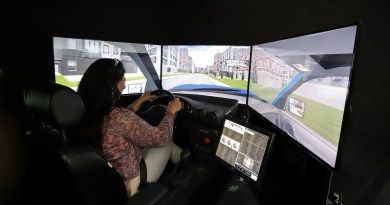 Driving Simulator Rolls into Downtown