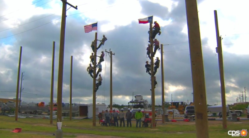 linemen on pole