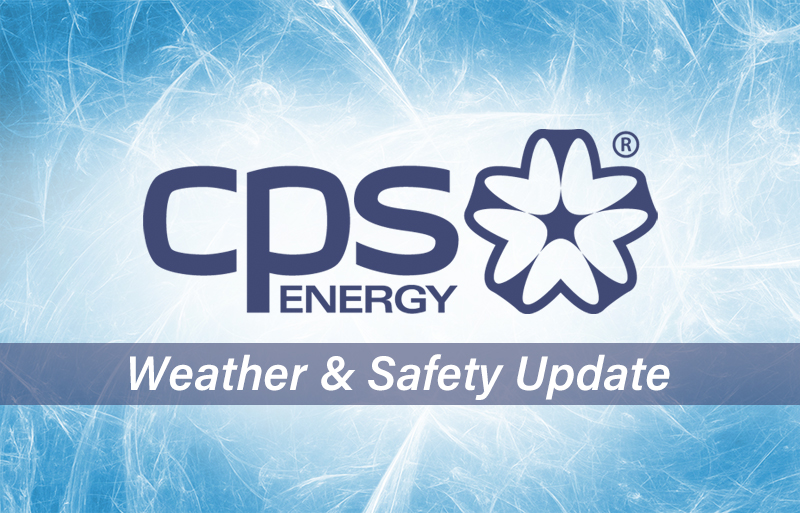 CPS Energy logo with Weather & Safety Update tagline
