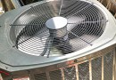 Closeup of Air Conditioner fan in motion