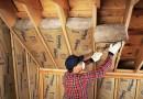 Photo of adding fiber insulation to home attic