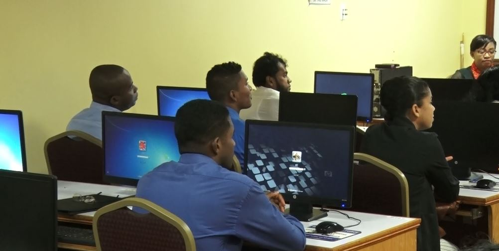 Police Officers being trained to digitally map crime