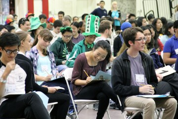 An image of students at the Orange County Academic Decathlon