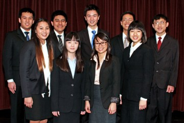 An image of Westminster High School's Academic Decathlon team