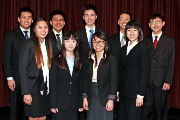 An image of Westminster High School's Academic Decathlon team