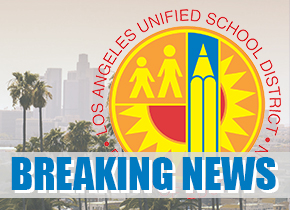 LAUSD breaking news title card
