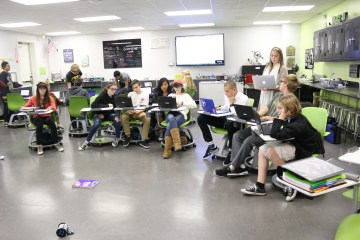 An image of a classroom in Laguna Beach