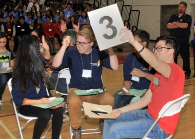 Students at the Orange County Academic Decathlon
