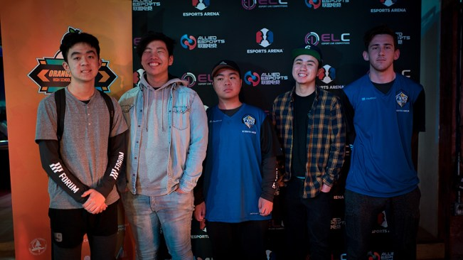 Fountain Valley High esports team