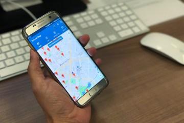 CA Schools app an a smartphone