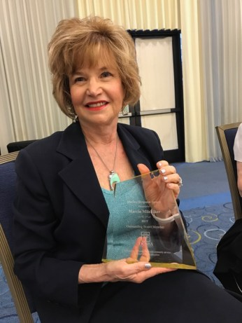 Marcia Milchiker, winner of the Marian Bergeson Award