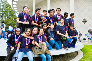 Members of the Jeffrey Trail Middle School Science Olympiad team