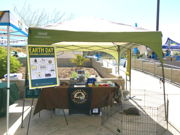 An Inside the Outdoors booth at an Earth Day Open House and Environmental Fair