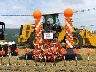 Anthony Saba speaking at groundbreaking ceremony